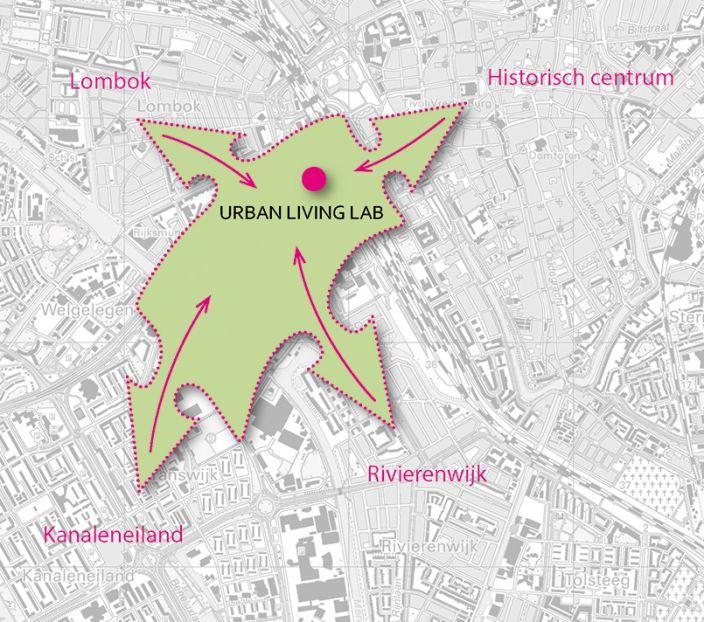De Ontwerptafel Utrecht Living Lab kaartbeeld