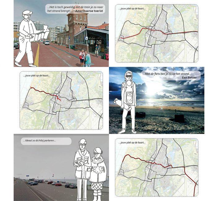 Haarlem Randweg Zeeweg ontwerptafel personakaartjes
